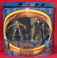 Lord of the Rings Return of the King: Super-Poseable Gollum & Frodo - Action Figure 2-Pack Sealed